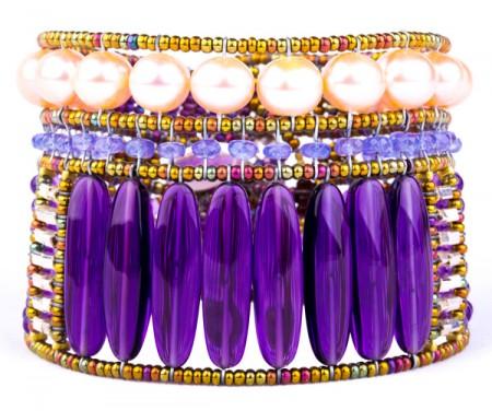 """Armband """"Rock"""" Large Violet"""
