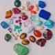 Farbedelsteine in unterschiedlichen Schliff-Formen