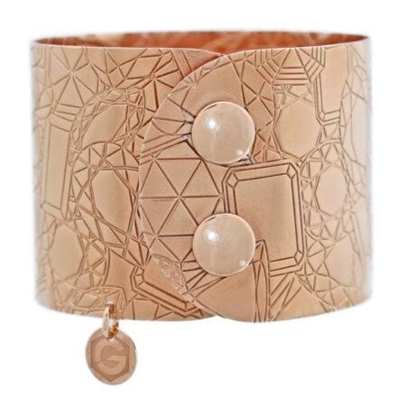 "Damen Armband Serie ""Atelier"" in Rotgold. Manschettenarmband"