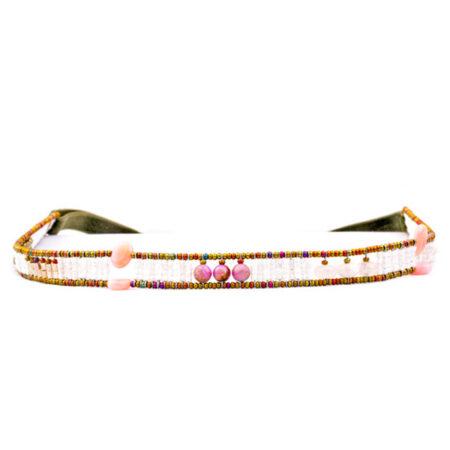 Haarband mit echten Edelsteinen in femininen Farbtönen. Die Krönung zum Dirndl
