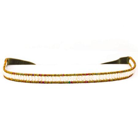Samthaarband mit echten Perlen. Dirndl Schmuck