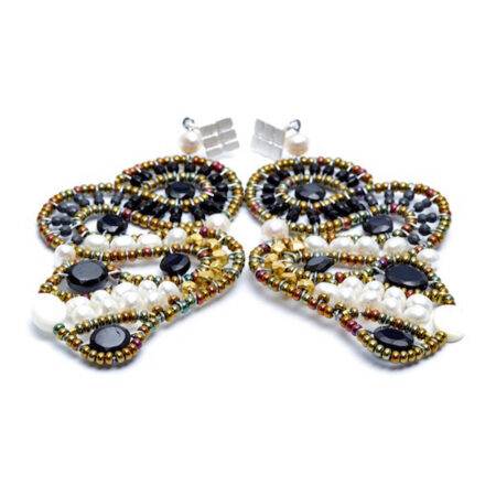 Ohrschmuck mit echten Steinen und Perlen