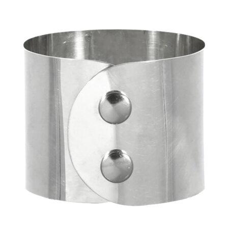 """Armband """"Atelier"""" in Silber 935/000 mit Druckknopf Verschluss. Breite: 45 mm"""