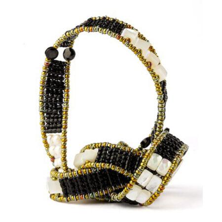 Armband mit Onyx und Perlen