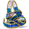 Wickel Armband mit echten Steinen in Blautönen
