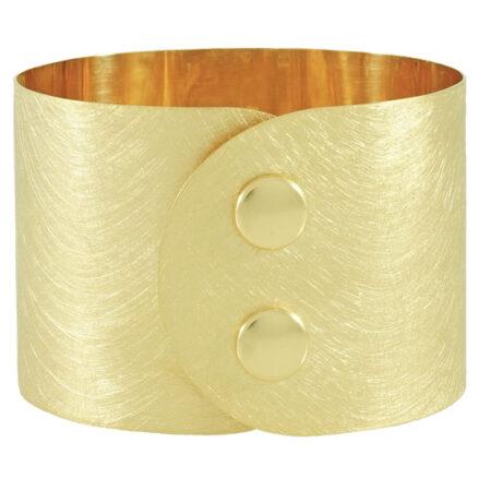 """Damen Armband """"Atelier"""" in Silber 935/000 mit Druckknopf Verschluss. Breite: 45 mm"""
