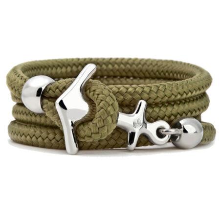Anker Armband mit Segeltau 925 Silber