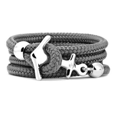 Armband mit Segeltau grau